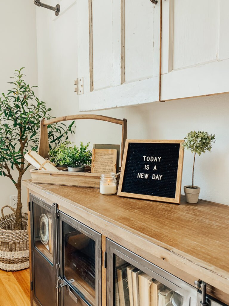 Easy letter board hack! See how simple it is to add a stand to the back of your letter board.