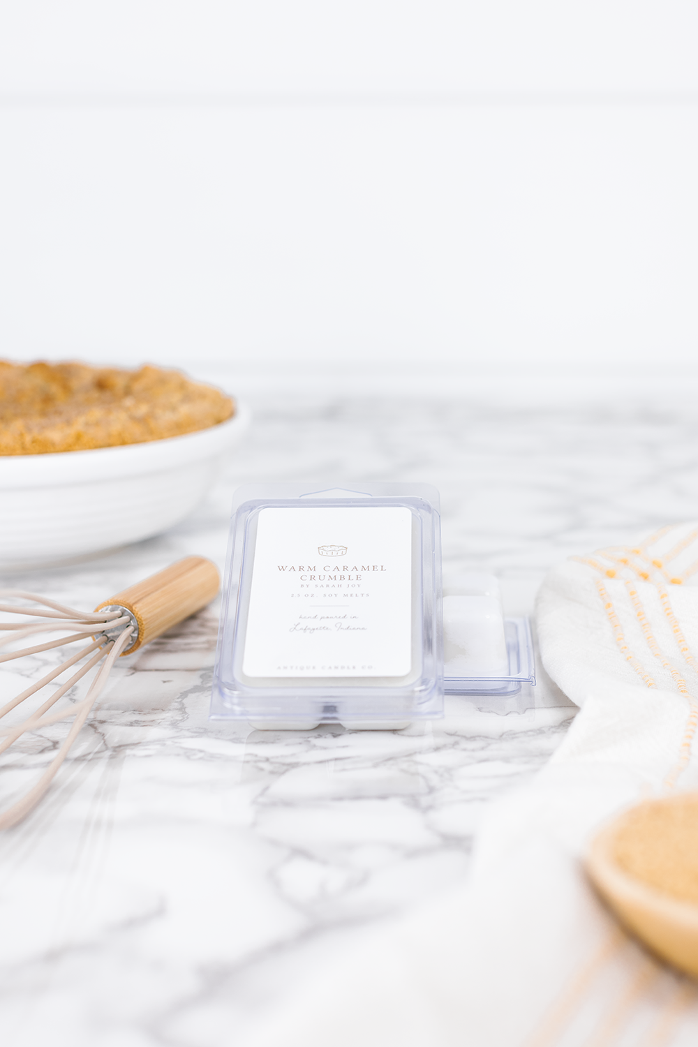 The Yummiest Fall Candle is HERE! Warm Caramel Crumble by Sarah Joy is the most delicious smelling fall candle!