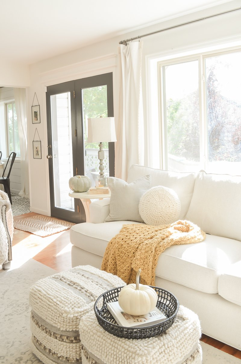 Cozy Fall Living Room + New Sofa