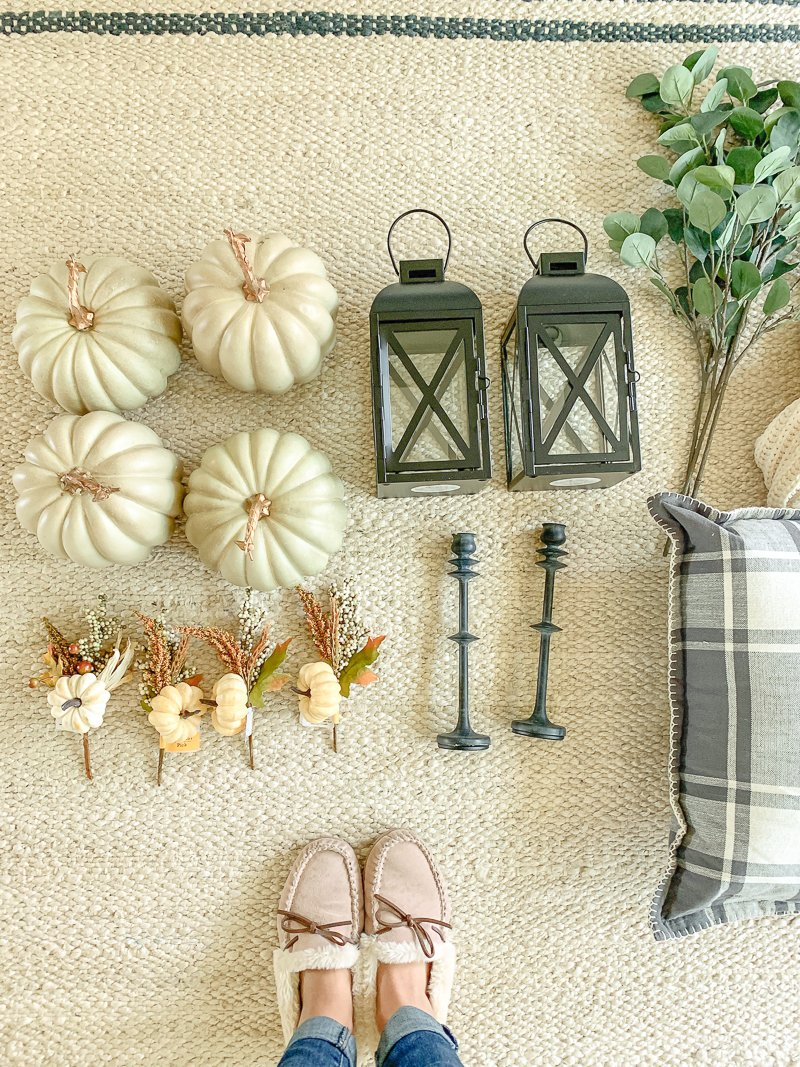 Easy + Affordable Fall Mantel--3 Different Ways