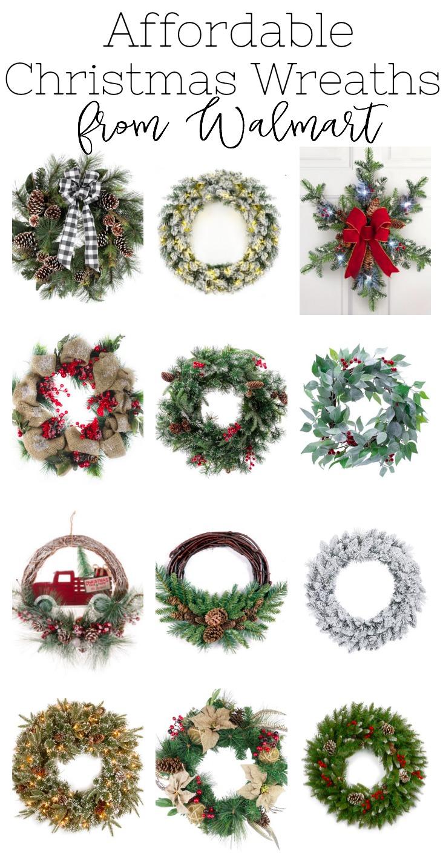 Farmhouse Style Christmas Decor from Walmart. The best Christmas wreaths from Walmart.