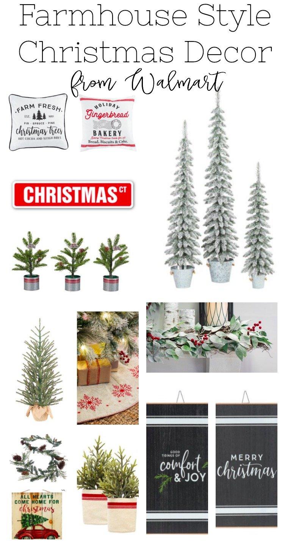 Farmhouse Style Christmas Decor from Walmart
