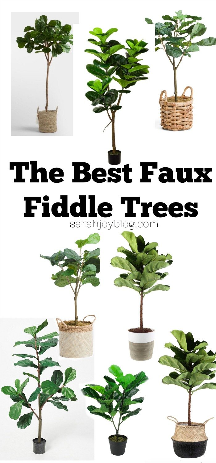 The best faux fiddle trees! Affordable faux trees for any room in your home.