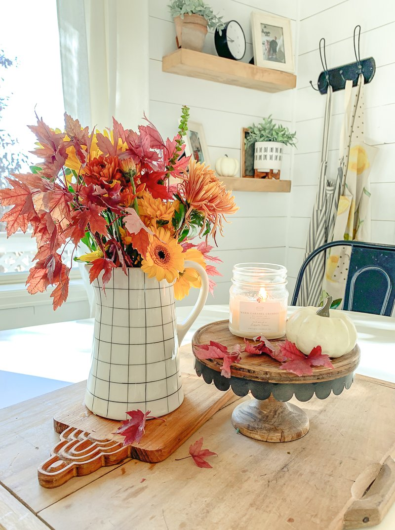 How to Decorate with Real Branches for Fall. Easy fall decor ideas using fall branches and leaves.