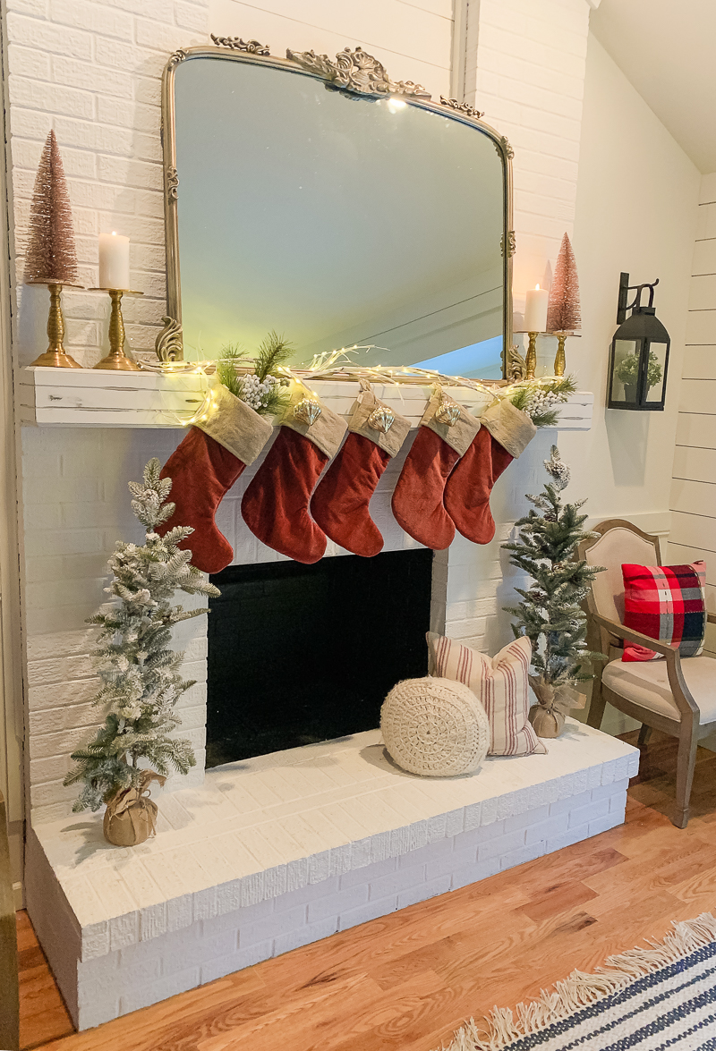 Glowing Christmas Mantel