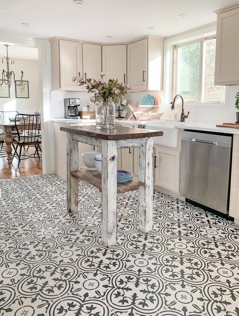 Kitchen Tile Update Grout Cleaning Hacks Sarah Joy
