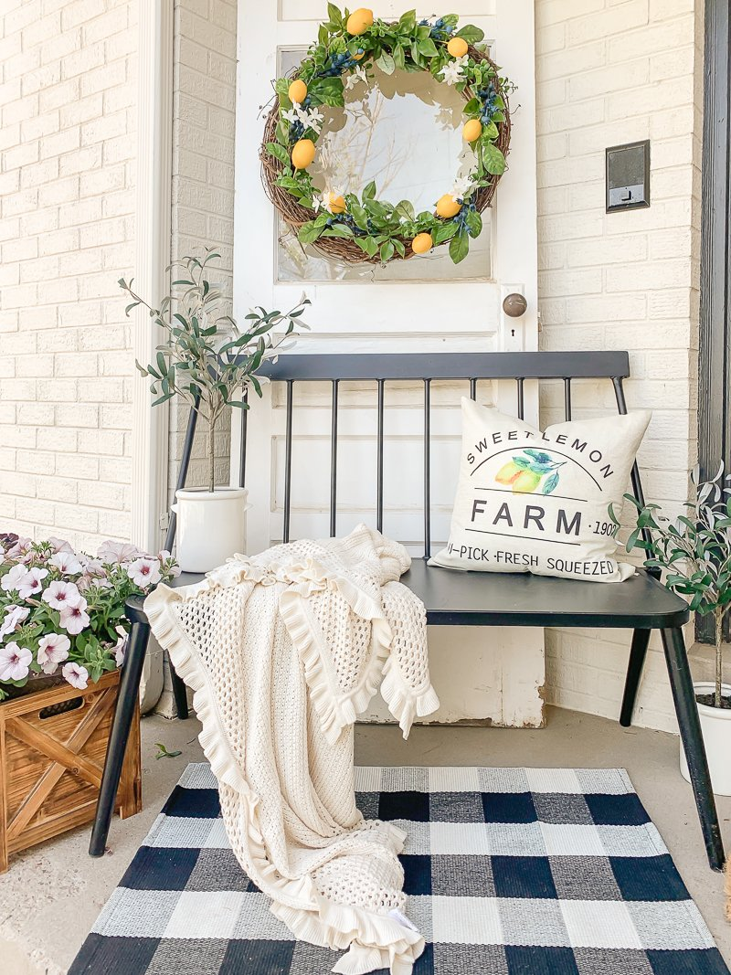 Lemon Inspired Farmhouse Porch for Summer!