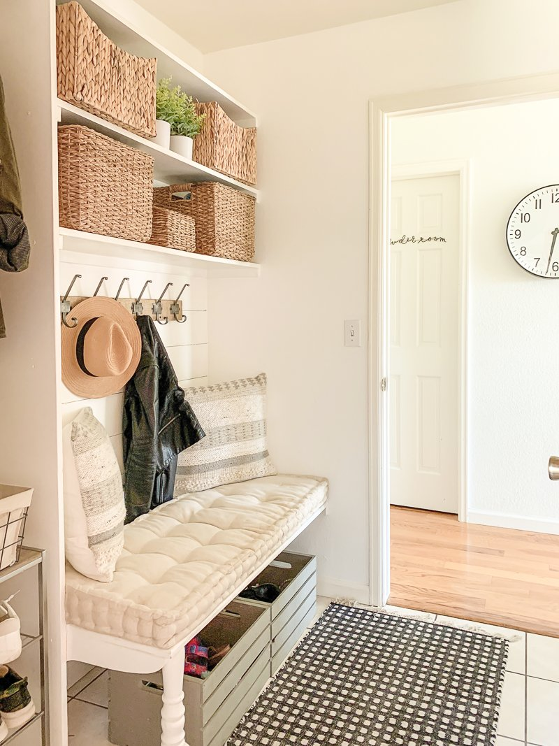 Small And Functional Mudroom My Favorite Storage Baskets