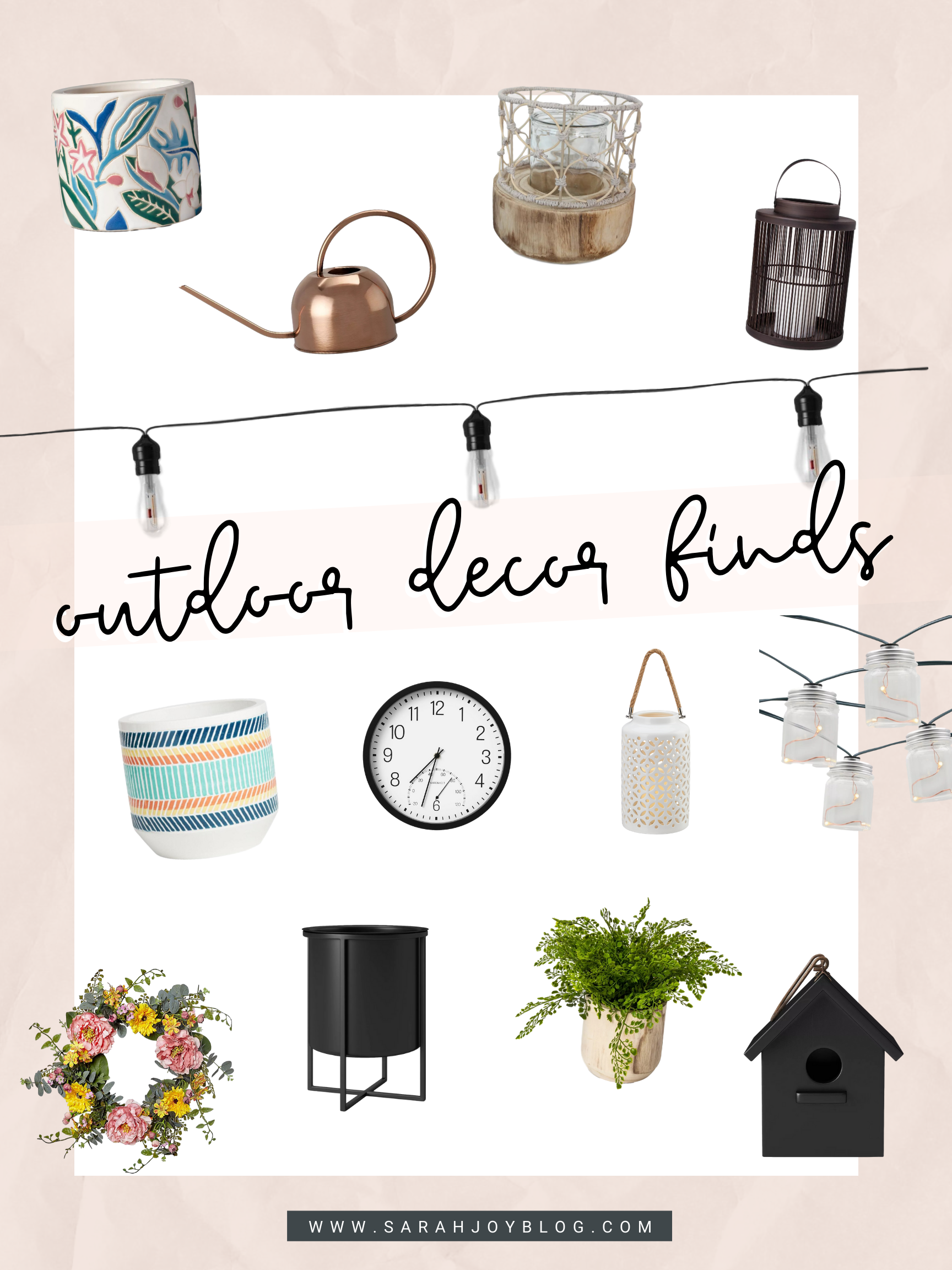 Affordable Outdoor Decor Shopping Guide