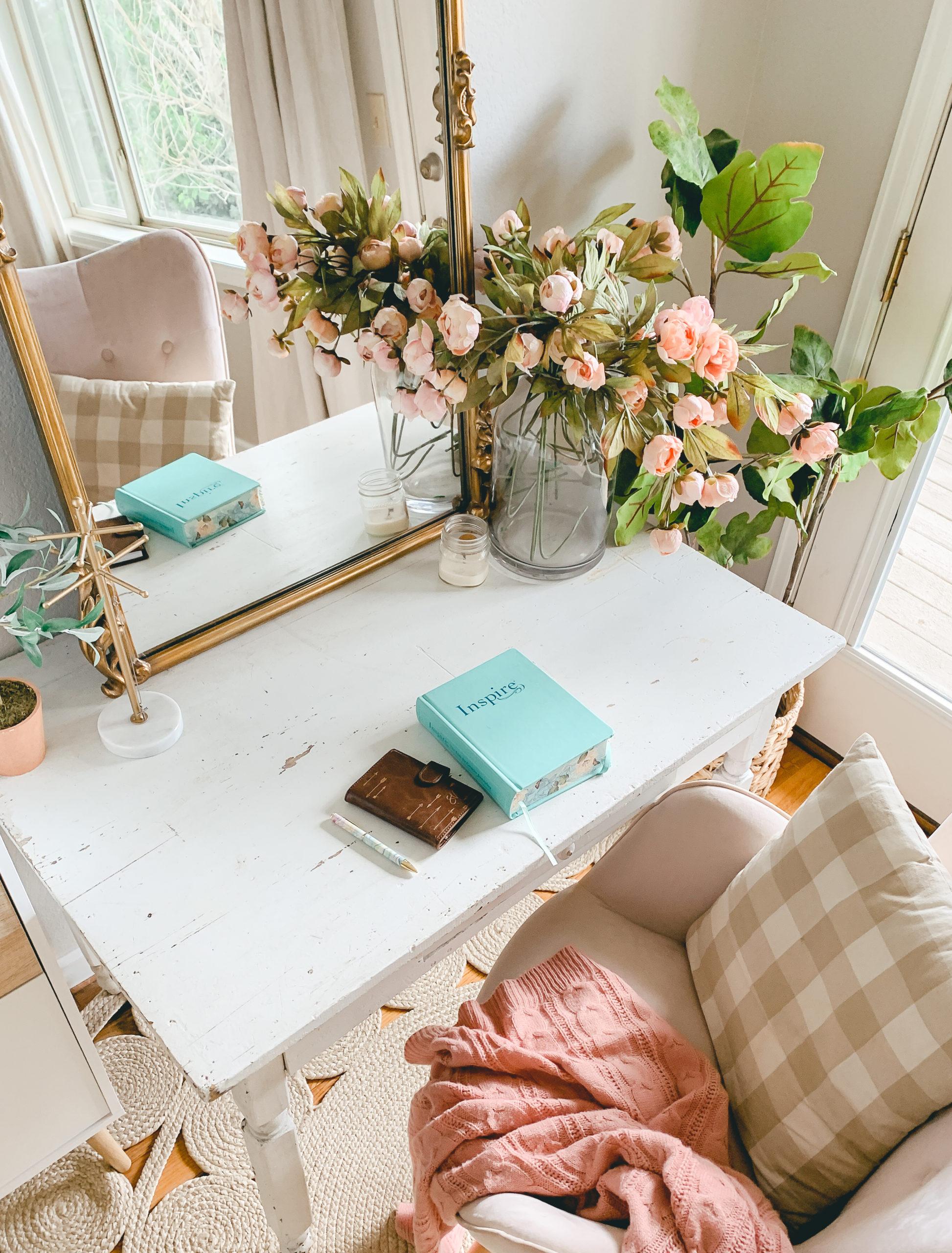 Boho Style Vanity Desk