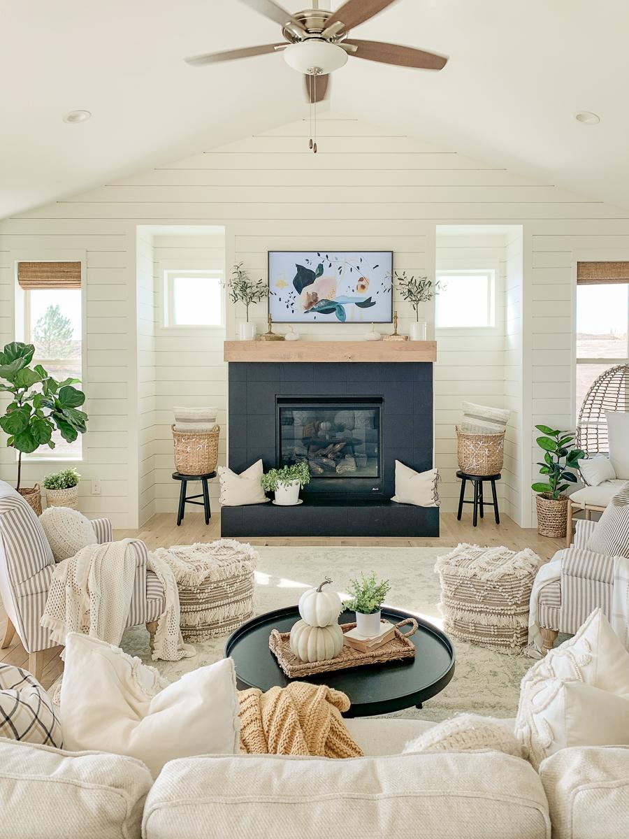 Simple Cozy Living Room For Fall Sarah Joy