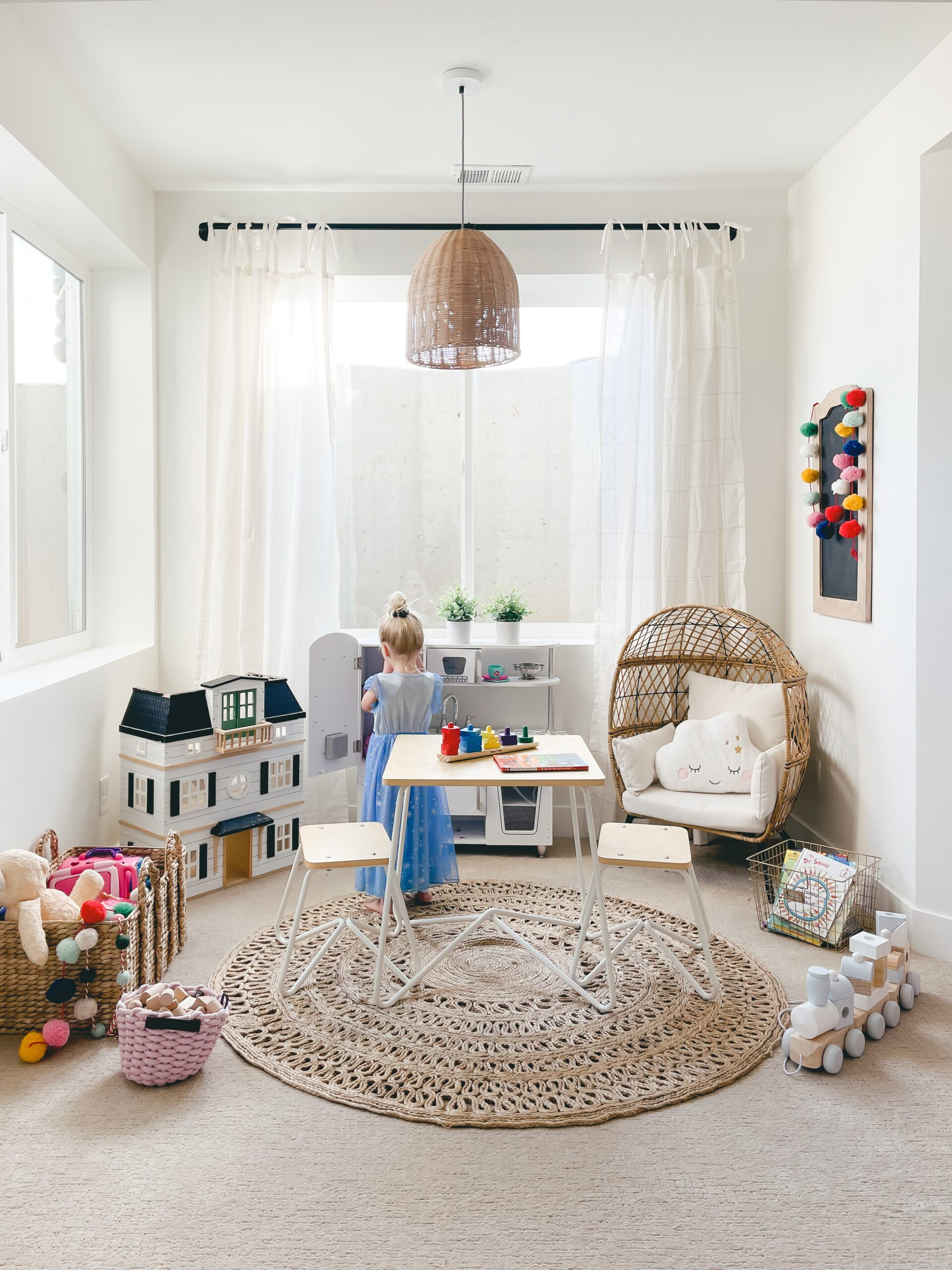 Quick Playroom Makeover! Simple and fun playroom ideas for kids.