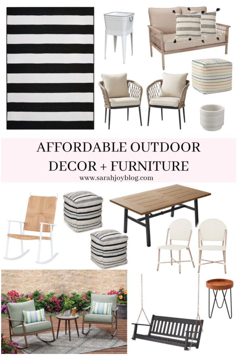 OUTDOOR DECOR + FURNITURE
