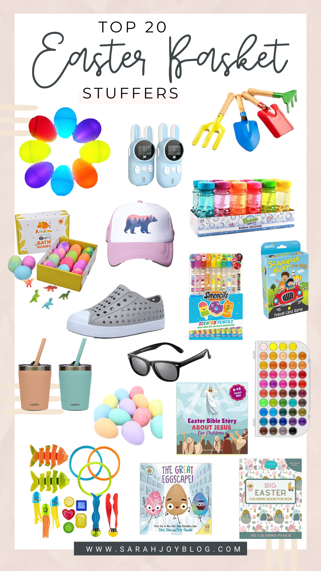 20 Easter Basket Ideas from Amazon. All of these finds are SUPER cute and budget friendly!